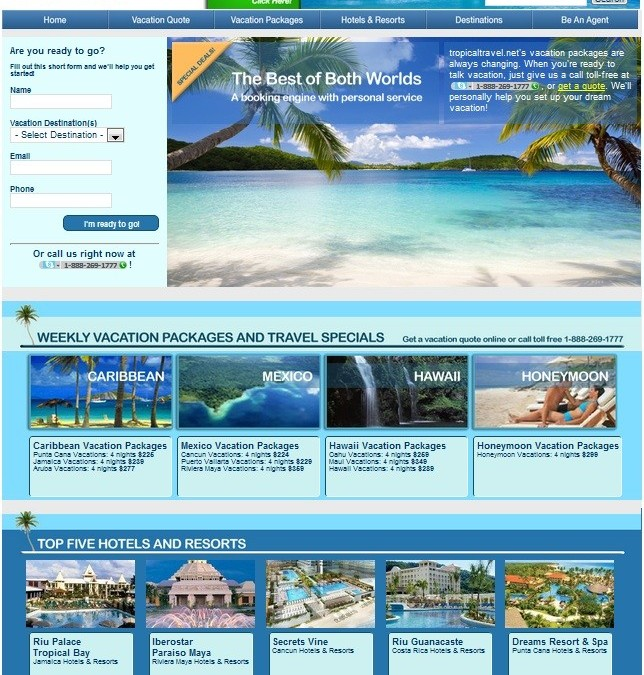 TropicalTravel.net Gets A New Look