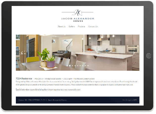 Jacob Alexander Homes-Mobile Responsive
