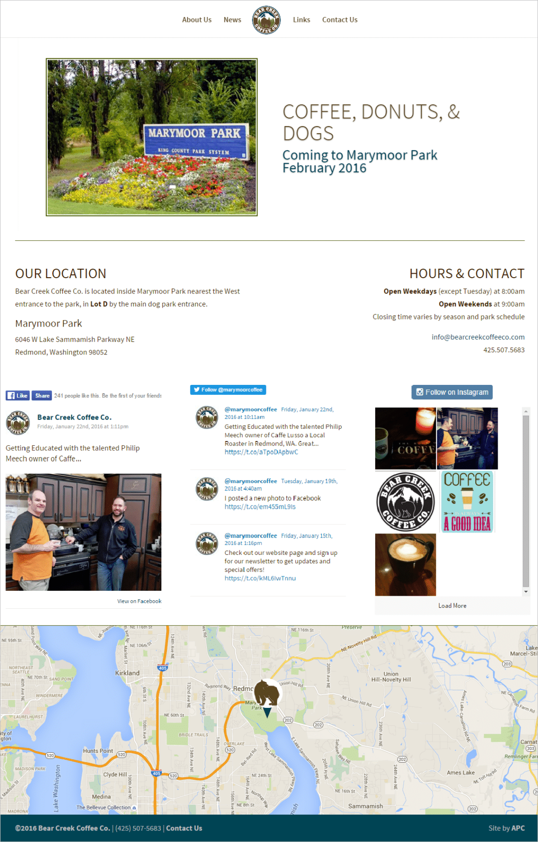 Bear Creek Coffee Co. Website